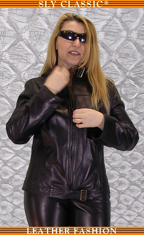 Női bőrdzseki, bőrnadrág - Sly Classic Leather Fashion