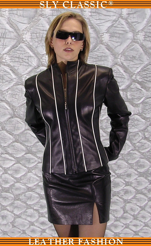 Női bőrzakó, bőrszoknya - Sly Classic Leather Fashion
