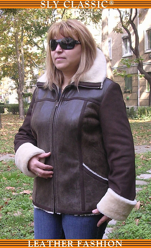 Női irha dzseki, bőrdzseki - Sly Classic Leather Fashion