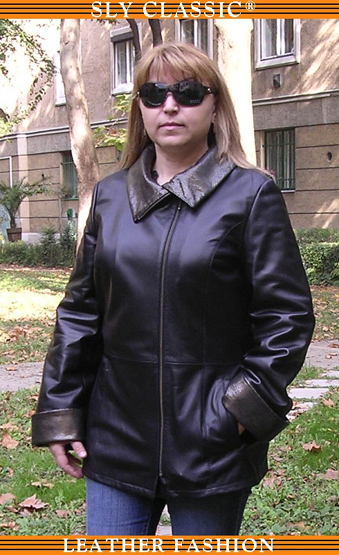 Női bőrkabát - Sly Classic Leather Fashion