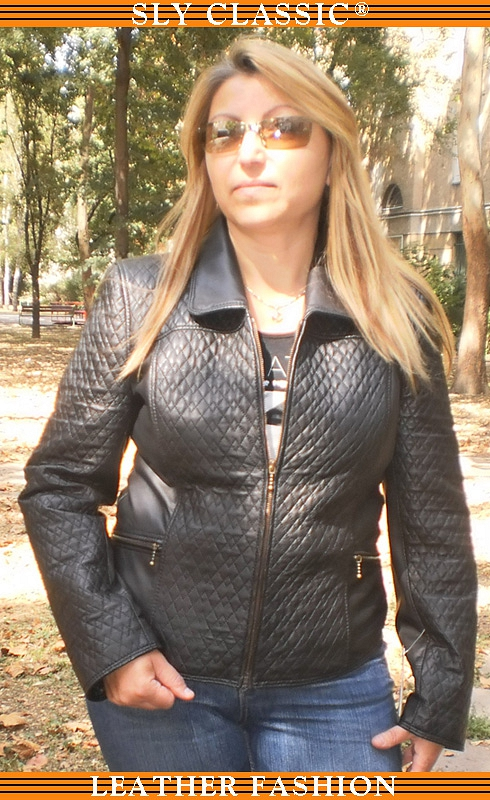 Női bőrdzseki - Sly Classic Leather Fashion