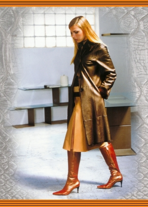 Női bőrkabát, irha kabát - Sly Classic Leather Fashion